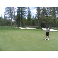 A view of Coyote Moon Golf Course in Truckee, California.