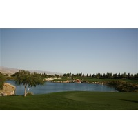 No. 12 plays 162 yards from the championship tees at Classic Club in Palm Desert.