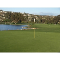 The par-5 17th on the Legends Course at La Costa brings water into play on the second and third shot.