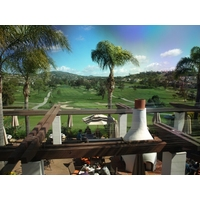The back of the clubhouse provides a good view of the golf courses at the Omni La Costa Resort and Spa.