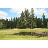 Plumas Pines Golf Resort's seventh hole is a par 3 that plays over water.