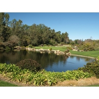 The par 3 third hole at Aviara Golf Club in Carlsbad is short but tricky.