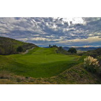 A nice view of the sky above the third green at Tierra Rejada Golf Club.