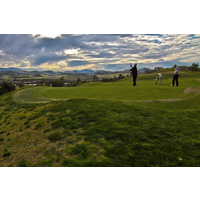 Golfers find the green on the 17th hole at Tierra Rejada Golf Club.