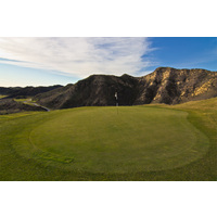 A good look at the fifth green on the Shadow Course at Lost Canyons Golf Club.