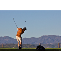 There's an excellent driving range to work on your game at River Ridge Golf Club.