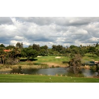 The fourth hole at Rancho Bernardo Inn golf course is a scenic par 3 over water.