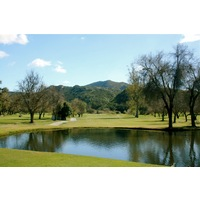 The second hole on the Oak Glen Course at Sycuan Golf Resort is a short par 4.