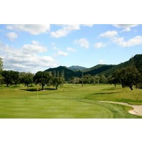 The 17th hole on the Oak Glen Course at Sycuan Golf Resort is a long par 4.