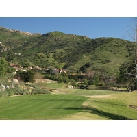 The 382-yard ninth at Maderas Golf Club plays downhill.