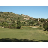 The 12th hole at Maderas Golf Club is 438 yards, but it does play downhill.