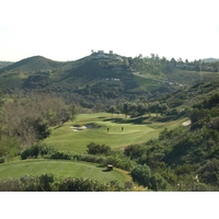 The 15th at Maderas Golf Club is a downhill par 3 that can play more than 250 yards.