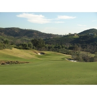 The par-4 16th, at 453 yards, is part of a tough finishing stretch at Maderas Golf Club in Poway, California.