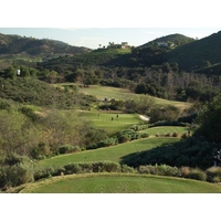 The 17th is another dramatic par 3 at Maderas Golf Club in Poway, California.