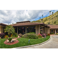 A bungalow-style clubhouse integrates perfectly with the landscape at Sycuan Golf Resort.