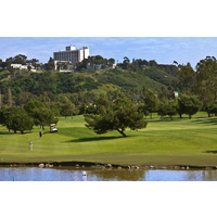 The San Diego River borders the Mission nine at Riverwalk Golf Club.