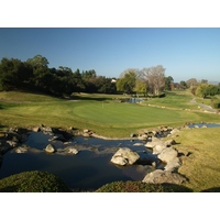 You won't forget the picturesque finishing hole at municipal Los Robles Greens Golf Course in Thousand Oaks, Calif.