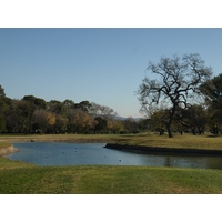 The seventh hole at Los Robles Greens Golf Course forces players to shape their shots from the tee.