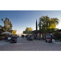 A busy morning at Glen Ivy Golf Club in Corona, California.