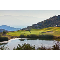 The eighth green at Hidden Valley Golf Club in Norco, Calif.