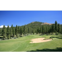 The 10th hole at Grizzly Ranch Golf Club is a par 4 that doglegs left.