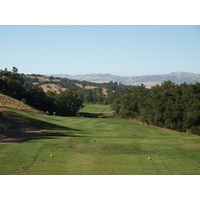 A good drive is critical to set up a reasonable approach on the long par-4 ninth at Eagle Ridge Golf Club in Gilroy, California.