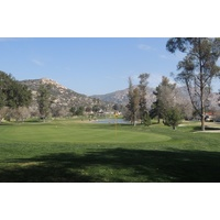 A large lake comes into play on the par-5 first at San Vicente Resort in Ramona.