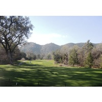 The par-3 15th at San Vicente Resort in Ramona, Calif., is protected by a tree on the right.