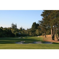 The second hole at Pasatiempo Golf Club is a low-lying par 4.
