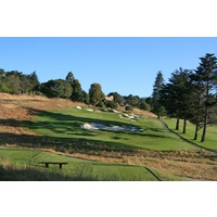 The third hole at Pasatiempo Golf Club is a long, uphill par 3.