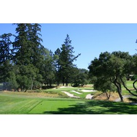 The 15th hole is the shortest of the par 3s at Pasatiempo Golf Club in Santa Cruz, California.