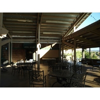 The clubhouse at The Golf Club at Rancho California provides a nice outdoor area to enjoy a post-round drink or meal.