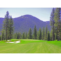 "The ninth hole at Martis Camp is a par 4 that measures 507 yards from the ""Medal"" tee."
