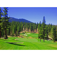 The 461-yard par-4 13th is the no. 2 handicap hole at Martis Camp golf course in Truckee, California.