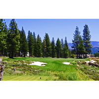 One of the easier par 3s at Martis Camp is the 17th.