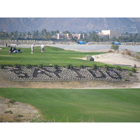 The message in the grass tells you Cimarron Golf Resort is a popular spot for weddings.
