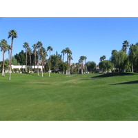 Desert Princess Country Club is marked by towering palms.