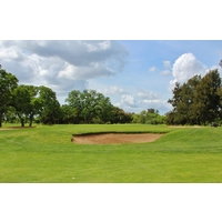 The 17th hole is the first of finishing back-to-back par 5s on the MacKenzie Course at Haggin Oaks in Sacramento.