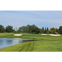 Water, bunkers and length make the 225-yard 17th hole at Del Paso Country Club formidable.