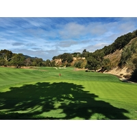 Shadows creep upon the 16th green at Quail Lodge & Golf Club in Carmel, California.