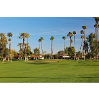 The second hole is one of four par 4s shorter than 360 yards on the North golf course at  Rancho Las Palmas.