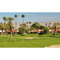 Make sure to take enough club to carry the front bunker on the sixth green of the North golf course at the Rancho Las Palmas resort