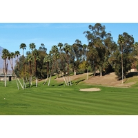 The first hole of the West nine at Rancho Las Palmas is the longest par 4 on the property.