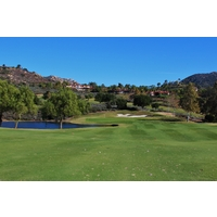 Don't yank it left on the water-filled 12th hole at Maderas Golf Club in Poway, California.