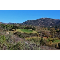 Head to the highest tees on no. 18 to see the beauty of Maderas Golf Club in Poway, California.