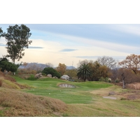 The seventh hole at Carlton Oaks Golf Club is one long and tough par 3.