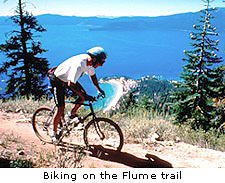 Biking on the Flume trail