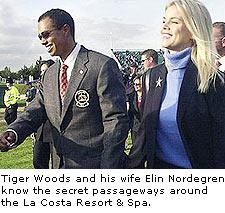 Tiger Woods and his wife Elin Nordegren