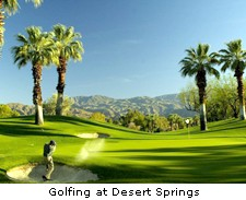 Golfing at Desert Springs